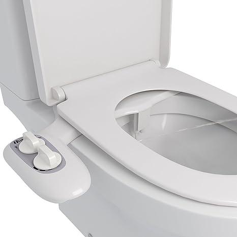 BATHWA WC Bidet Aufsatz Deluxe Comfort Bidet, Cold Water Bidet, Toilette Bidet Dusch ohne-WC mit Kalt und Warmwasser für Inti