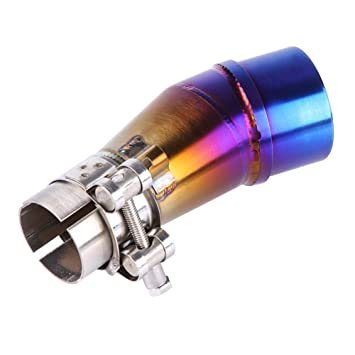 Amazon.com: Cuque Motorcycle Full Exhaust System Middle Pipe ...