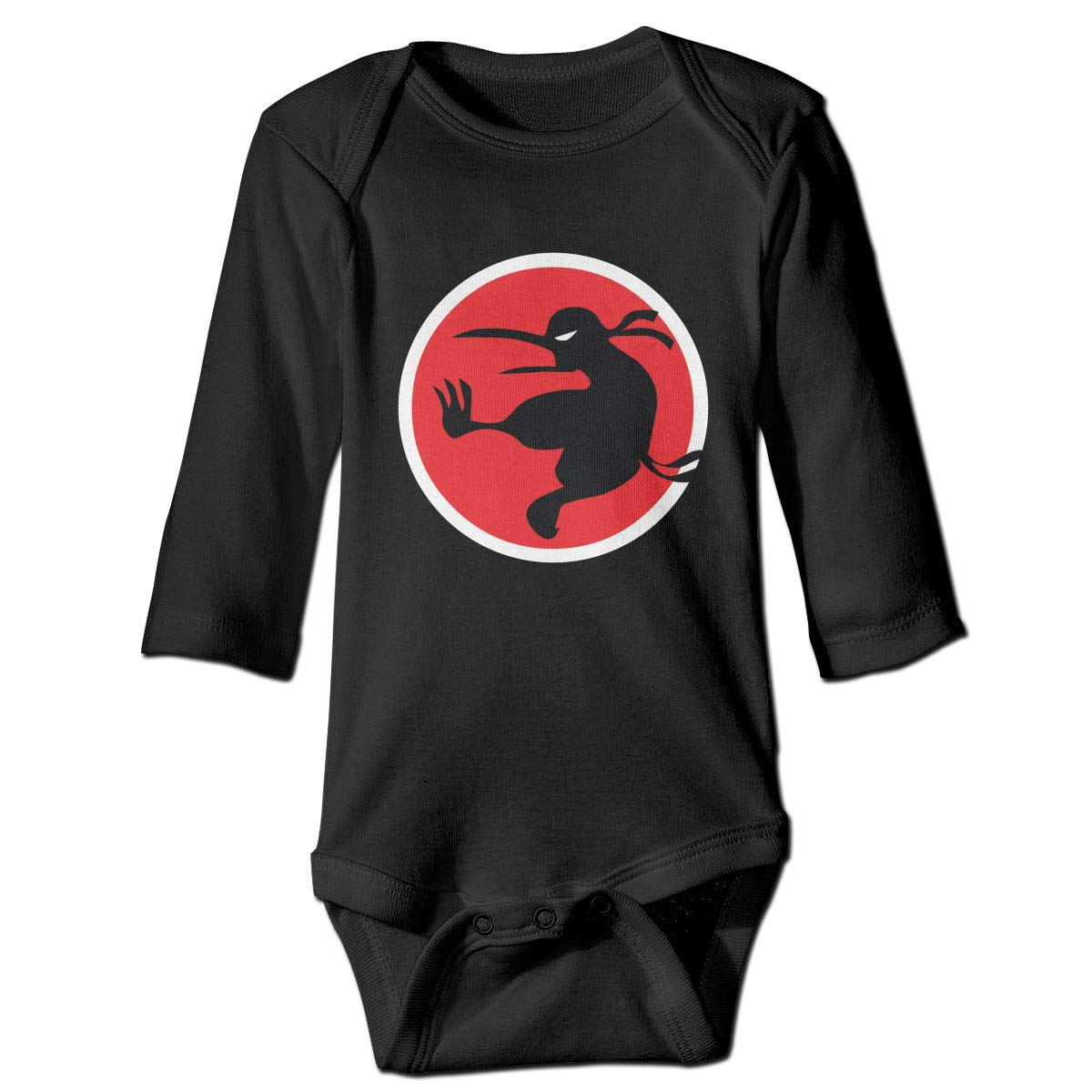 Amazon.com: Ninja Kiwi Baby Boys Long Sleeve Cotton Bodysuit ...