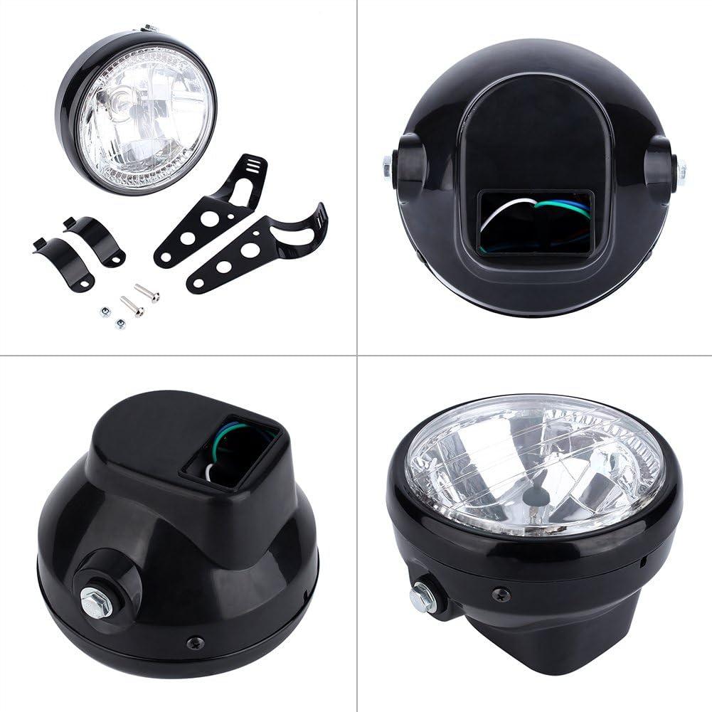 phare de phare ultra-bas universel avec phare 12 volts H4 35W avec clignotant Phare de moto