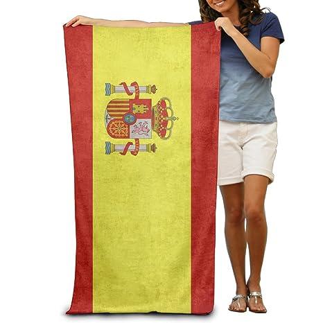 Yissalvavunaz - Toallas de playa con diseño de bandera de España, 100 % poliéster, toalla grande para ...