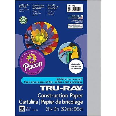 """Premium Sulphite Construction Paper 9"""" x 12""""- Set of 20 Colors: Toys & Games"""
