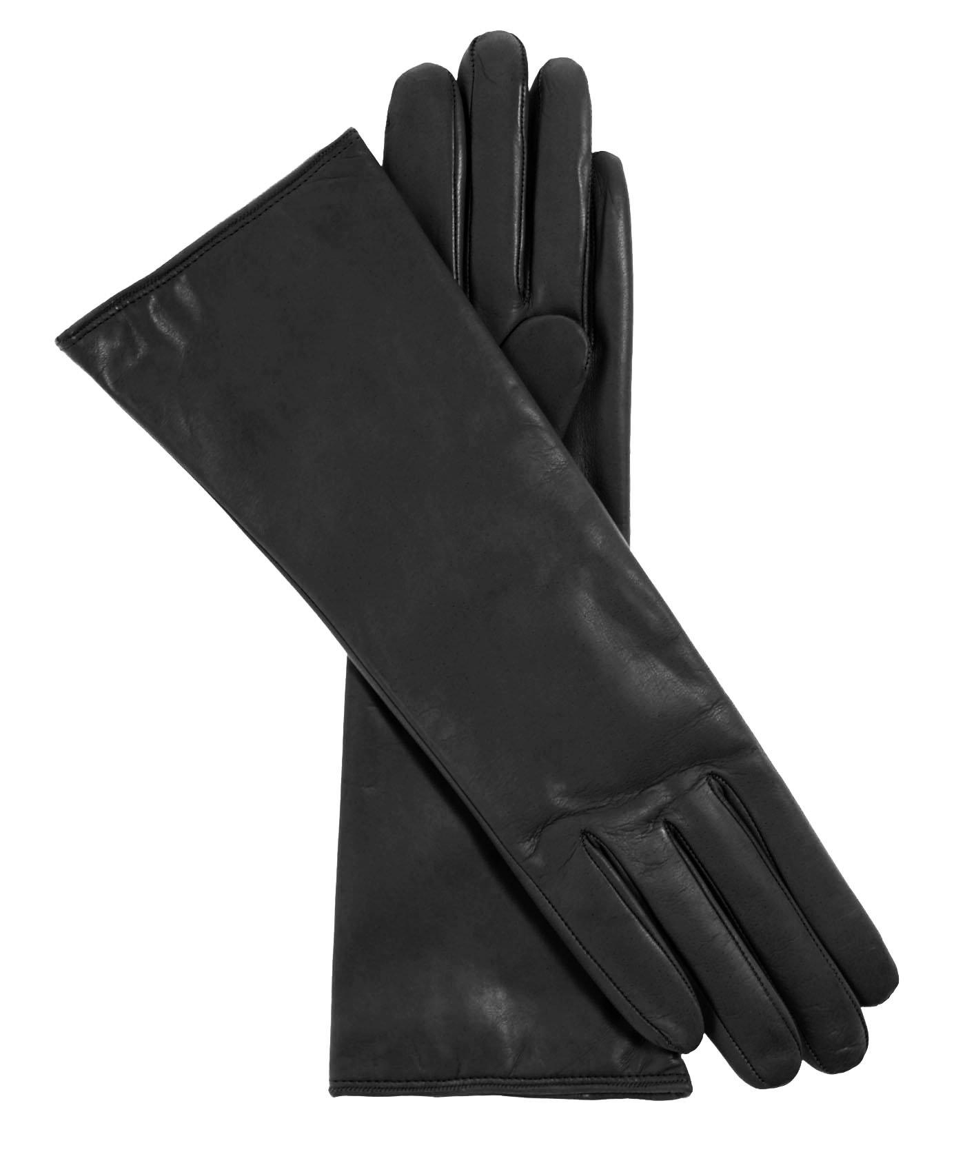Fratelli Orsini Women's Italian''4 Button Length'' Cashmere Lined Leather Gloves Size 8 1/2 Color Black by Fratelli Orsini (Image #3)