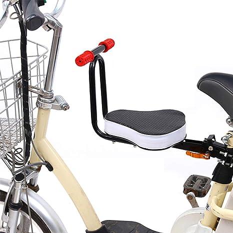 Asiento De Bicicleta Para Ni/ños Asiento Delantero Para Ni/ños De Bicicleta El/éctrica Asiento De Seguridad Para Beb/é Con Reposabrazos Plegable F/ácil De Instalar Adecuado Para Bicicletas De Monta/ña