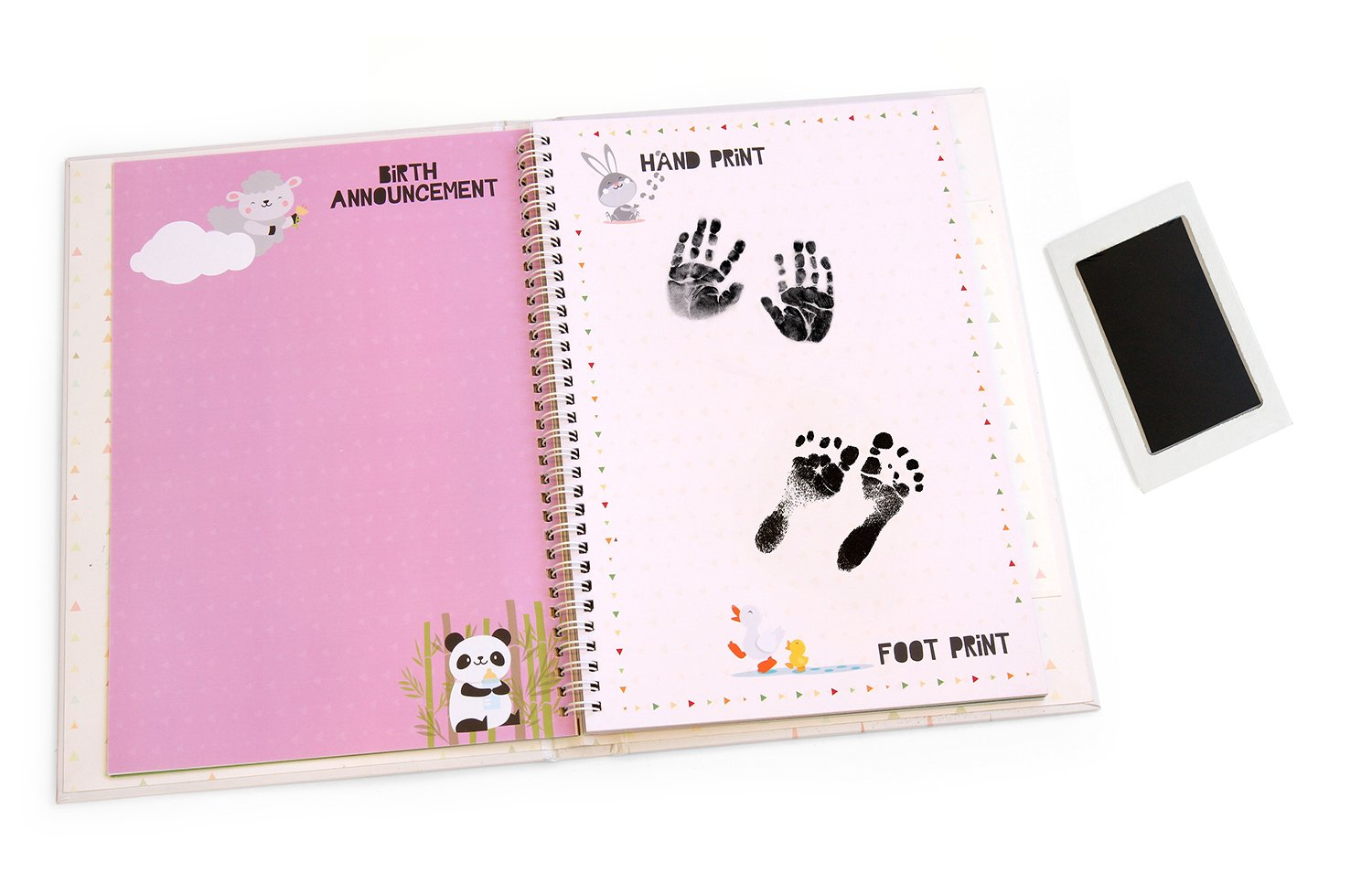 Me & My First Years Baby Memory Book - Animals. Personalised album for photos, pictures & development. Perfect Baby Shower Gift. (White) by Me and My First (Image #4)