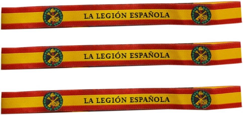 ALBERO 3 x Pulsera Legión Española Bandera de España Pura 29 x 1.50cm: Amazon.es: Deportes y aire libre