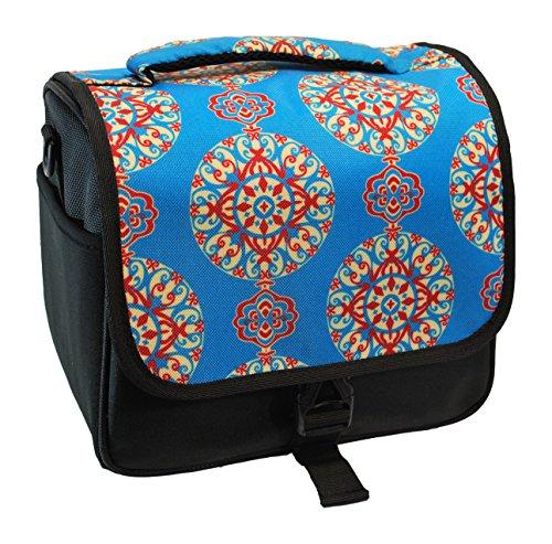 (Designer Teal Medallion DSLR Camera Bag)