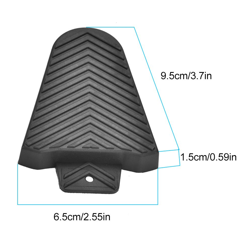 Vbestlife Bike Cleat Covers, 1Pair Road Bicycle Pedal Protective Cover Shoe Protectors for Shimano SPD-SL Cleats Black by Vbestlife (Image #5)