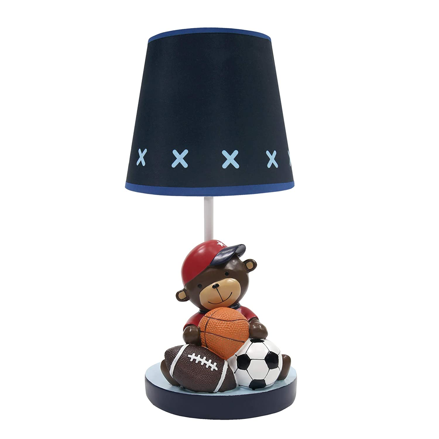 B07QDVGGPP Lambs & Ivy Future All Star Lamp with Shade & Bulb, Blue 61An9JxL-ML