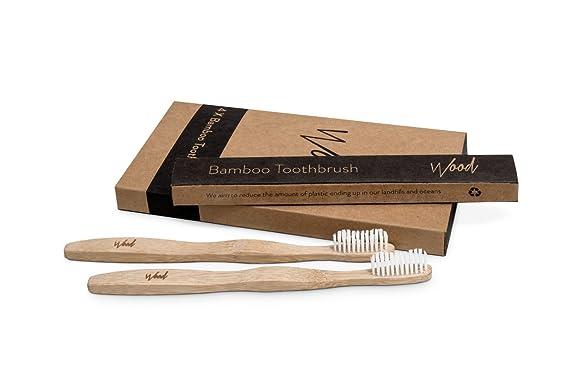 Cepillo de dientes de madera de bambú, biodegradable, respetuoso con el medio ambiente, sin residuos de plástico, 4 unidades: Amazon.es: Salud y cuidado ...