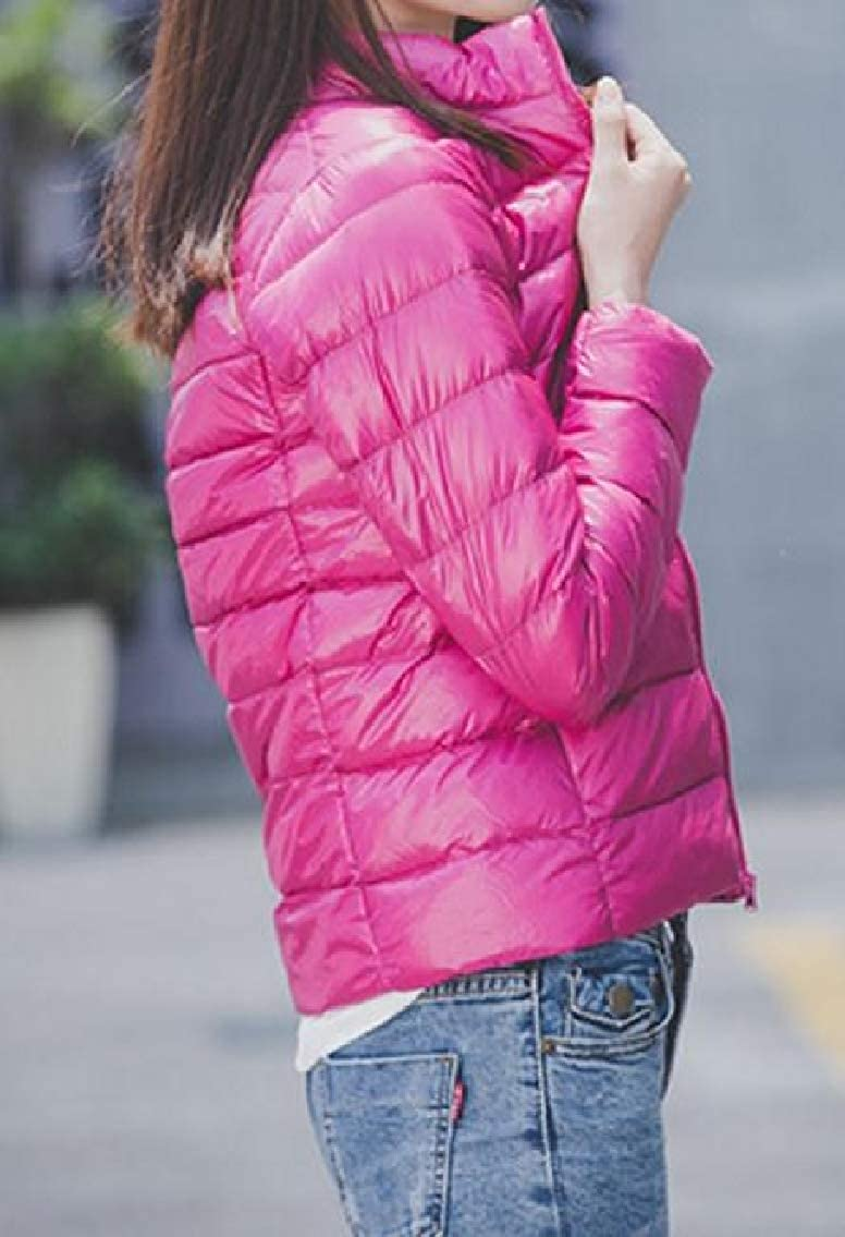 Godeyes Womens Padded Packable Full-Zip Ultra Light Weight Stand Collar Down Jacket