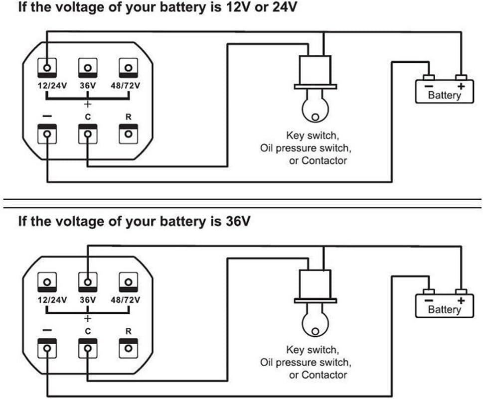 Keenso Led Digital Batterieanzeige Meter Gauge 12v 24v 36v 48v 72v Batterieanzeige Mit Lcd Stundenzähler Für Golfwagen Auto