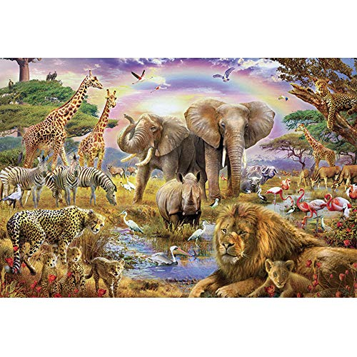 ANDSTON 1000 Piece Wooden Jigsaw Puzzle for Kids Adult, Large Educational Intellectual Paintings Puzzle Game Toys Gift for Home Wall Decoration