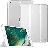 Fintie Hülle für iPad 9.7 Zoll 2018/2017 - Ultradünn Superleicht Schutzhülle mit transparenter Rückseite Abdeckung Cover Case mit Auto Schlaf/Wach Funktion, Silber