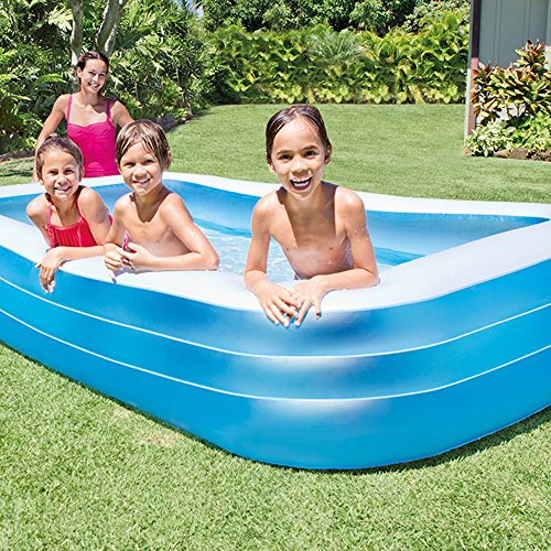 Intex Swim Center Family 72 x 120 Inch Swimming Pool and Quick Fill Air Pump