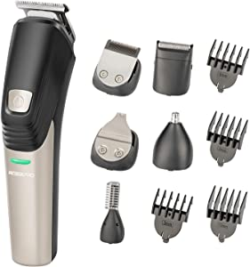 Beard Trimmer for Men Hair Clippers 6 in 1 Hair Trimmer Pro Haircut Kit Cordless USB Charging Rechargeable Waterproof Low Noise