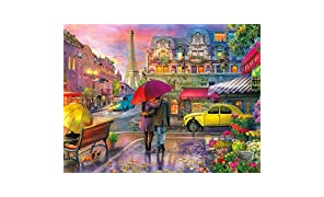 Buffalo Games - Cities in Color - Raining in Paris - 750 Piece Jigsaw Puzzle