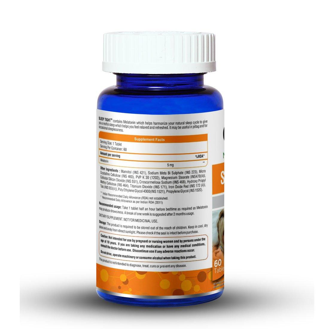 Amazon.com: Onelife Sleep Tight 5Mg : Melatonin - 5 Mg, 60 Tablets: Health & Personal Care