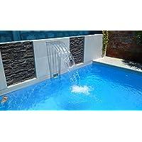Warmpool Cascada acrílica empotrable para Piscina o Fuente 60 cm de lámina de Agua Suministro de Agua a la Cascada por la Parte Inferior