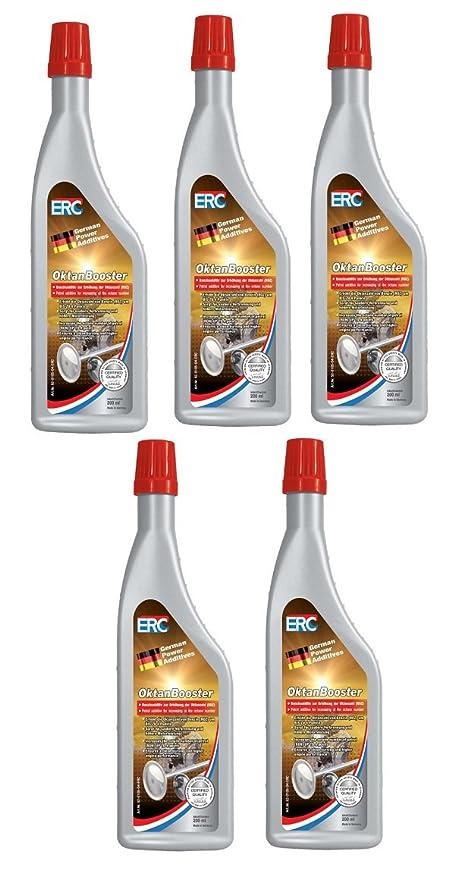 5 Stück 200 ml ERC Benzin Oktan Booster für alle Benzinmotoren Octanbooster Oktanbooster 52-0105-04