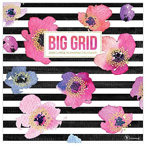 2020 Big Grid - Design Planning Wall Calendar (Wall Calendar Big Print)