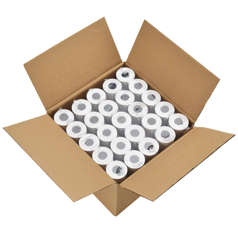 SJPACK Thermal Paper 2 1/4'' X 85' Pos Receipt Paper, 200 Rolls Cash Register Roll (200 Rolls / 4 Cartons)
