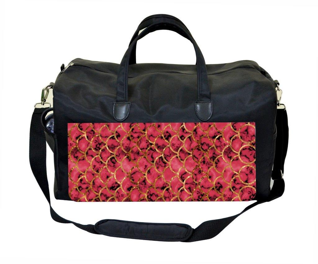 Pink Gilded Marblized Scallops Weekender Bag