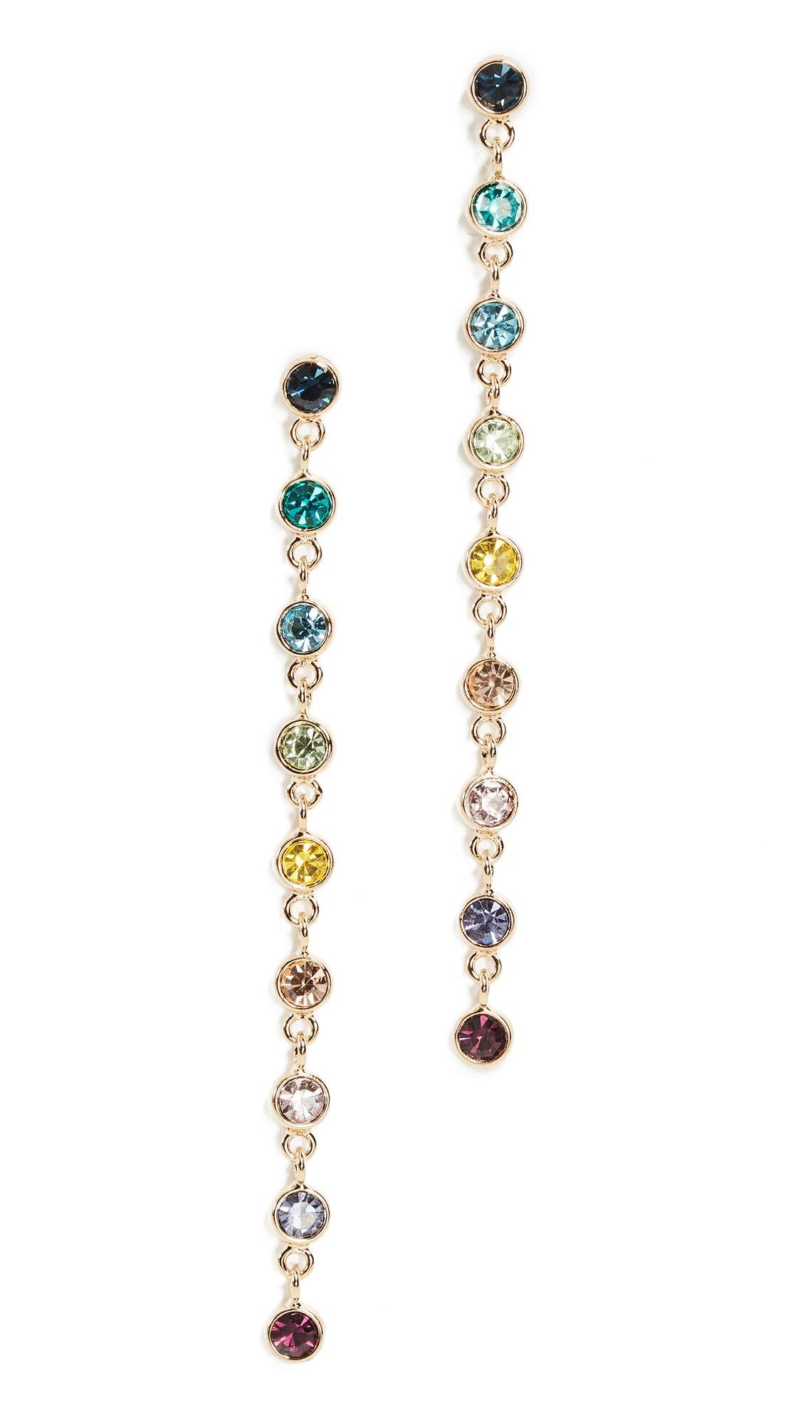 Kenneth Jay Lane Women's Rainbow Drop Earrings, Gold/Multi, One Size