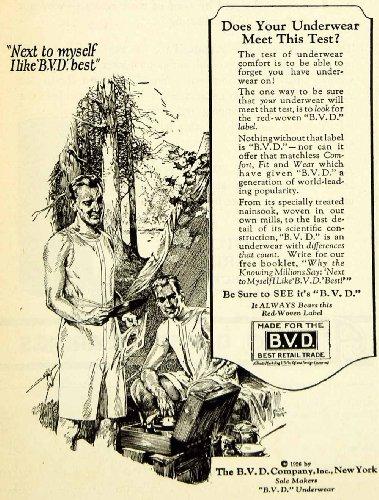 1926-Ad-B-V-D-Mens-Camping-Underwear-Slogan-Trademark-Clothing-Undergarments-Original-Print-Ad