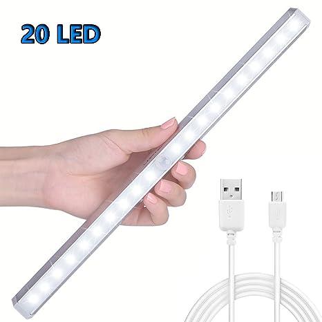 Sensor de movimiento de armario de luces, USB de carga de ...