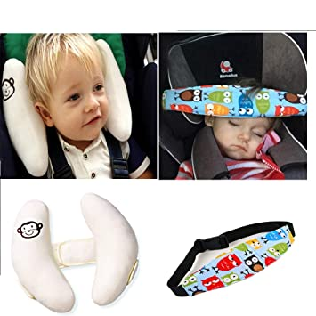 G Tree Car Seat Head Neck Support Set Adjustable Baby Headrest With