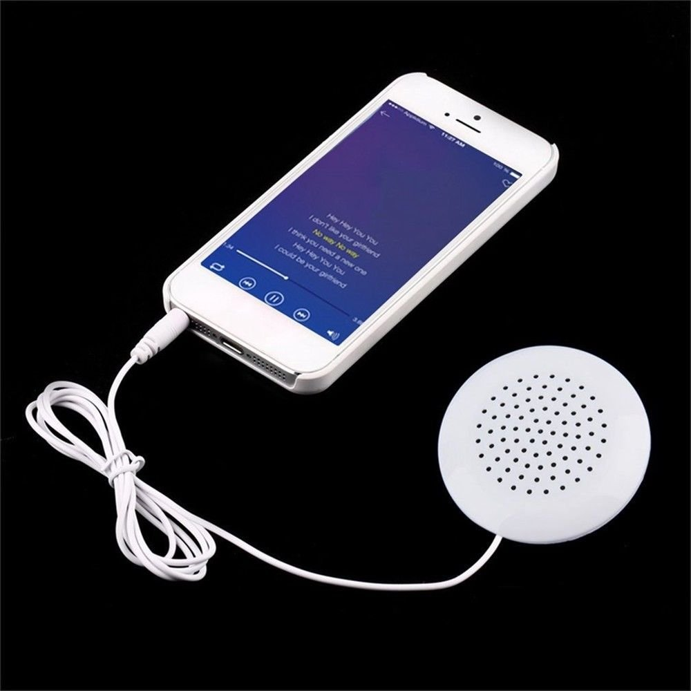 SODIAL Mini White 3 5mm Pillow Speaker For iPhone iPod CD Radio MP3 Player GL by SODIAL (Image #4)