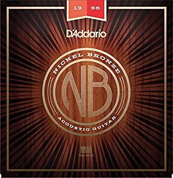 D'Addario NB1656 Nickel Bronze Acoustic Guitar Strings, Resophonic D' Addario