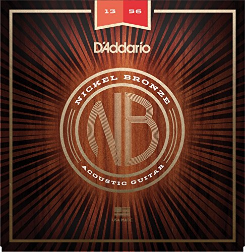 D'Addario Nickel Bronze Acoustic Guitar Strings, Medium, 13-