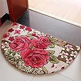 Sytian 19.68x31.49 Inch Rural Rug Rose Flower Rug Decorative Bedroom Living Room Carpet Mordern Shaggy Area Rug Soft Non-slip Doormat Floor Mat Bath Mat Bathroom Shower Rug (Pretty Rose Flowers)