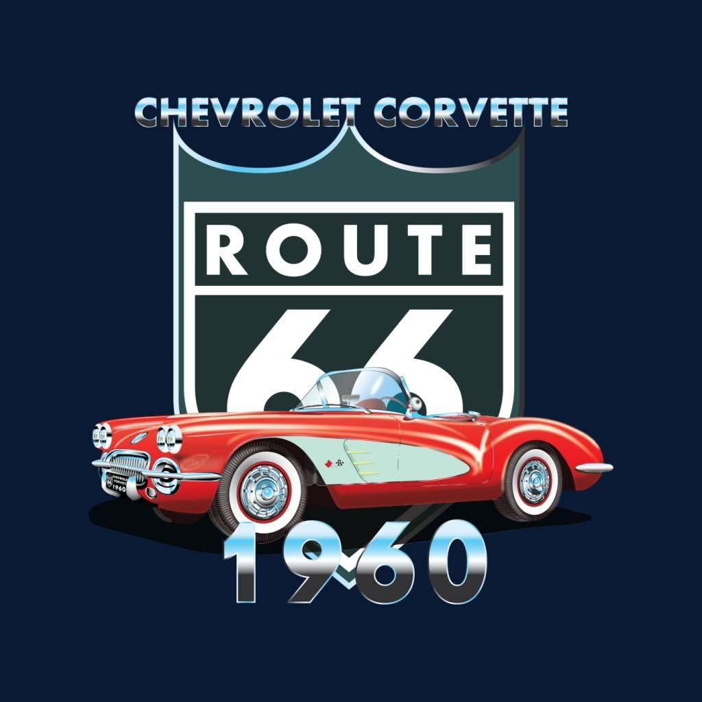 Chevrolet Corvette Route 66 1960 Mens Sweatshirt