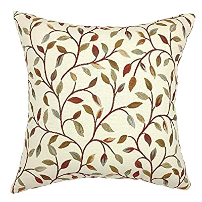 YOUR SMILE®Flower Square Decorative Throw Pillow Case Cushion Cover 18x18