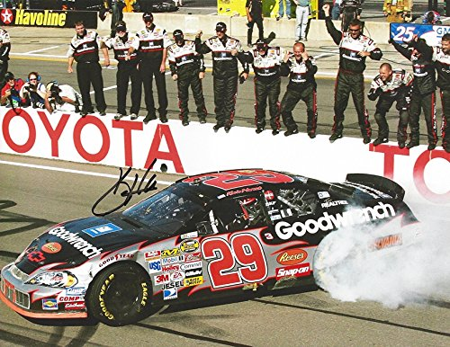 Gm Goodwrench Racing - AUTOGRAPHED Kevin Harvick #29 GM Goodwrench Racing VICTORY BURNOUT RACE WIN (Pit Crew Celebration) Childress RCR Team Signed Collectible Picture NASCAR 9X11 Inch Glossy Photo with COA