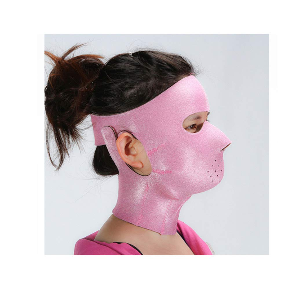 GLJJQMY 薄い顔マスクマスクプラス薄いマスク引き締めアンチエイジング薄いマスク顔の薄い顔マスクアーティファクト美容ネックバンド 顔用整形マスク B07S6DX1MG