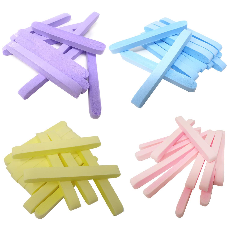 Honbay 48PCS Compressed Facial Sponge Sticks Round Face Sponge Pads Makeup Removal Wash Sponges for Women
