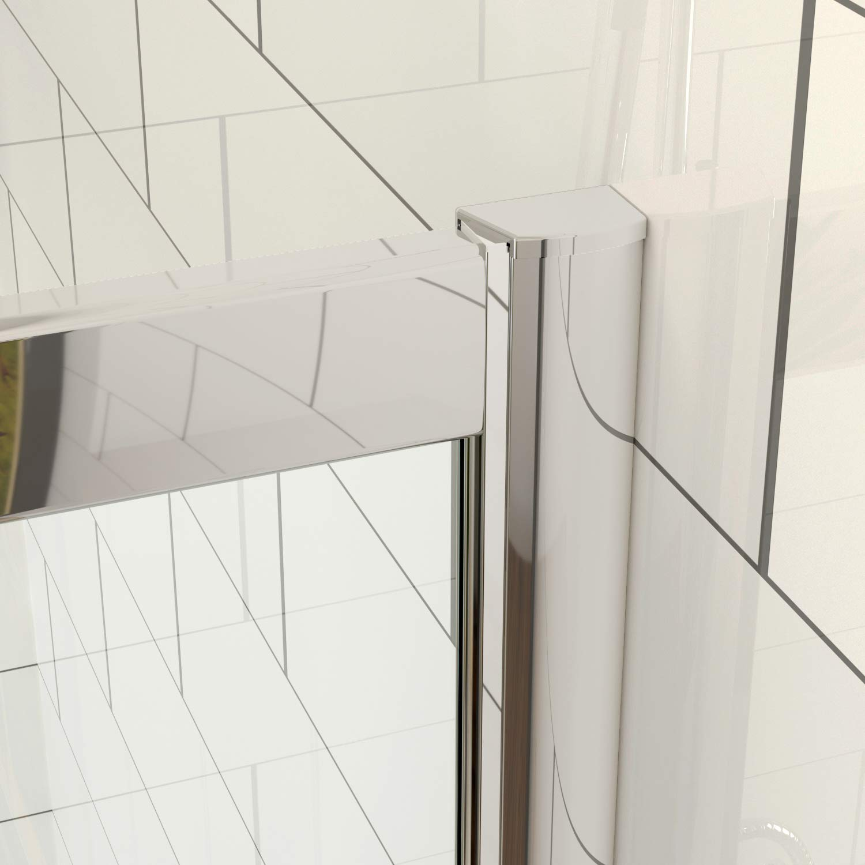 ELEGANT 900 x 760 mm Quadrant Shower Cubicle Enclosure Sliding Door 6mm Easy Clean Glass