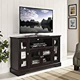 WE Furniture 52'' Wood Highboy Style Tall TV Stand - Espresso