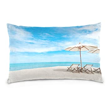 Cooper Girl Beach Chair Pillow Case Sofa Bed Throw Pillow Cover Cotton  Zipper 16x24 Inch