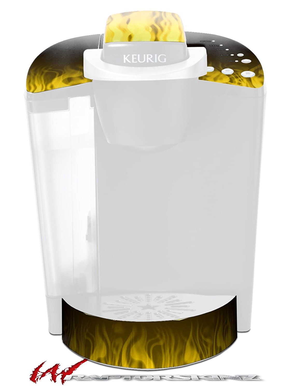 火炎イエロー – デカールスタイルビニールスキンFits Keurig k40 Eliteコーヒーメーカー( Keurig Not Included )   B017AKGVBE