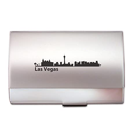 Amazon las vegas nevada two tone business card holder silver las vegas nevada two tone business card holder silver reheart Image collections