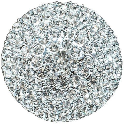Expo Rhinestone Dome Pave Button
