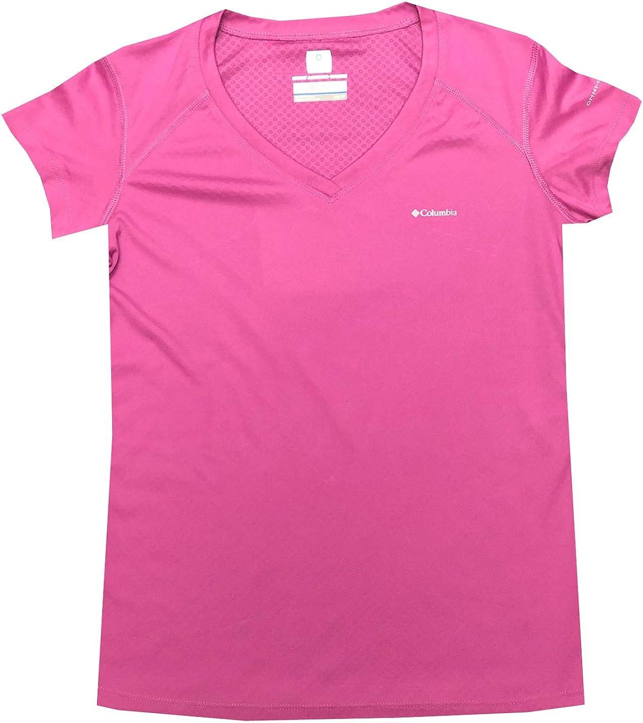 Columbia Women River Chill II Omni-Freeze Zero Athletic V-Neck T-Shirt