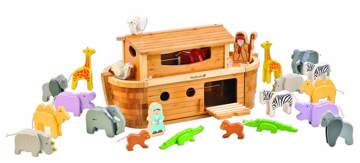 EverEarth Giant Bamboo Noah's Ark with Animals and Figures EE38065 by EverEarth (Image #1)