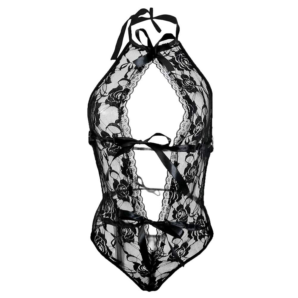 ❤ Mono Sexy Lencería Arco Cordón Hueco,Moda Encaje Ropa de Noche Lencería Tentación Babydoll Ropa Interior Mono Absolute: Amazon.es: Ropa y accesorios
