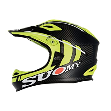 SUOMY Casco Downhill Jumper Carbon amarillo neón mate Talla L (Cascos integrales)/Downhill